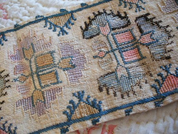 Antique Turkish Ottoman embroidery trim from by OldEnglishRoses