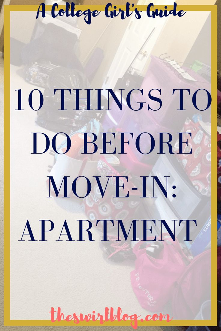 A College Girl's Guide: 10 Things to Do Before Move-in: Apartment Style!