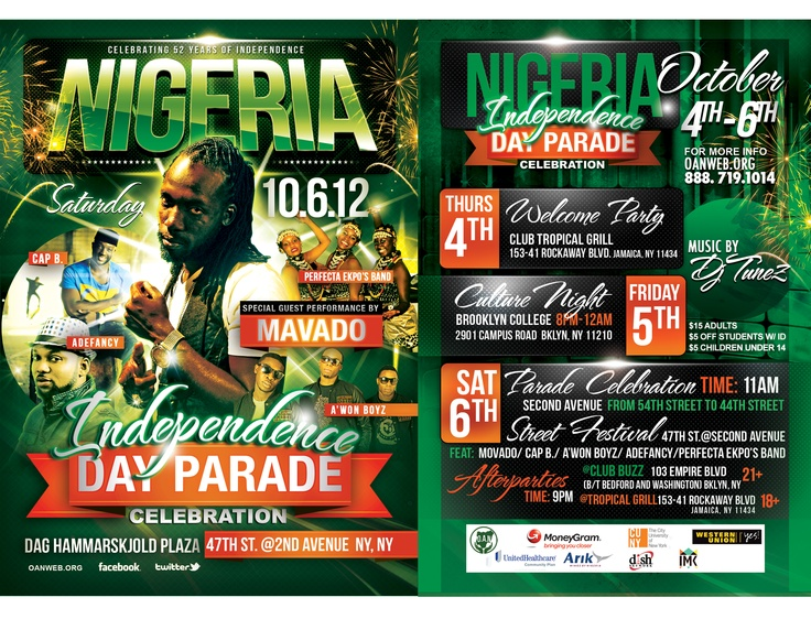 Adunni Designs at the Nigerian Independence Day Parade: Oct 4th - 6th   #Nigeria, #independent