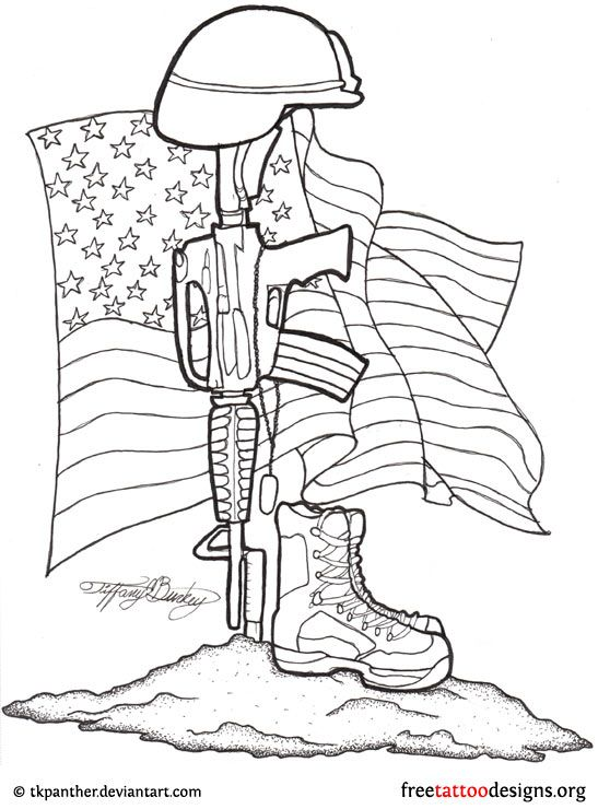 Fallen Soldier Drawing Memorial tattoos don't have to