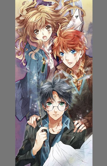 If Harry Potter was an anime, this is how some of the main characters would look. This stunning art was created by the team over at Burnred.co.uk.