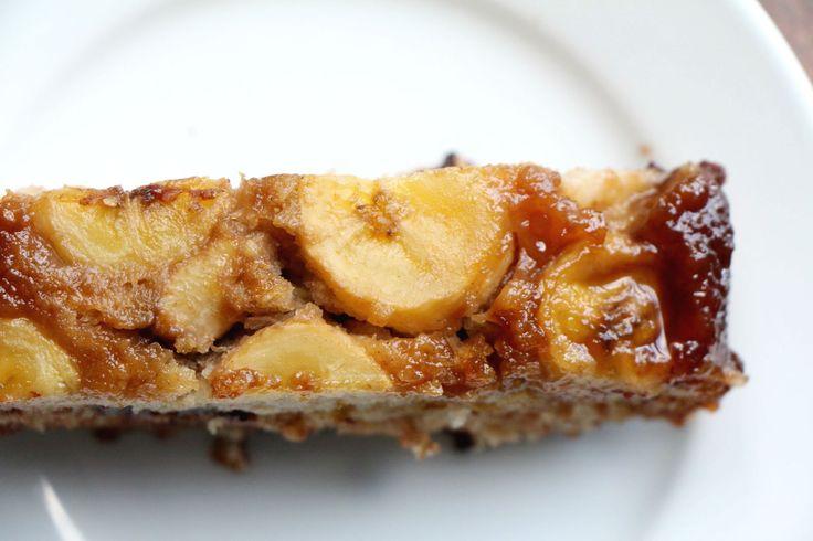 Banana & Chocolate Chip Upside Down Cake   Sprinkle of Vanilla Sugar