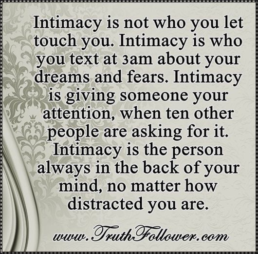 Intimacy is not who you let touch you