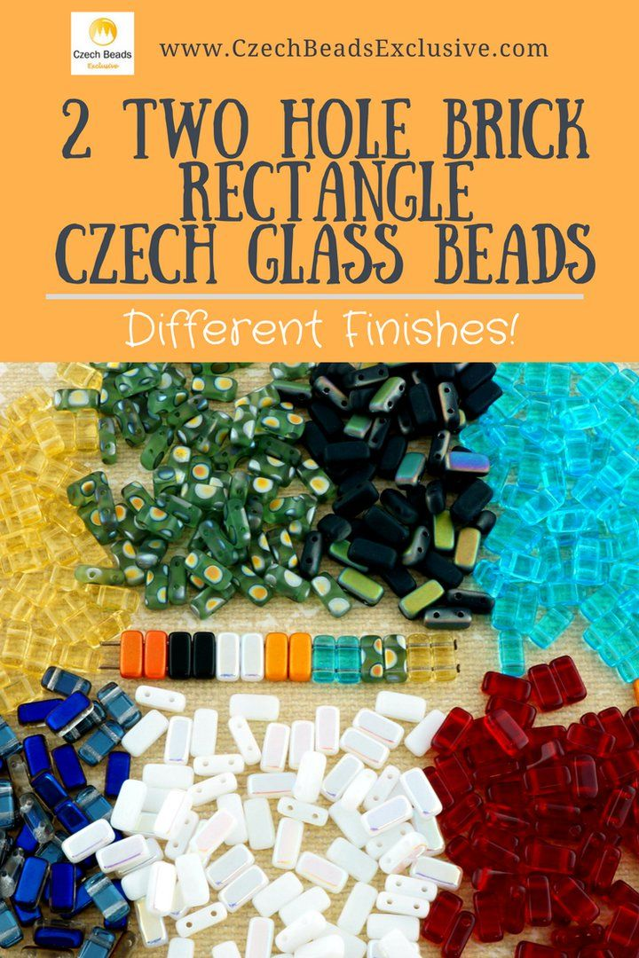 2 Two Hole Brick Rectangle Czech Glass Beads  Different Finishes - Buy now with discount!  Hurry up - sold out very fast! www.CzechBeadsExclusive.com/+two+hole+brick SAVE them! ⚡️Lowest price from manufacturer! Get free gift! 1 shipping costs - unlimited order quantity!  Worldwide super fast ✈️ shipping with tracking number! Get high wholesale discounts! Sold with  at http://www.CzechBeadsExclusive.com #2hole #czechbrick #brickbeads #czechbeads #czechglass #glassbeads #2holebeads…