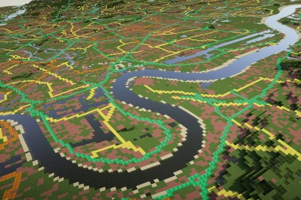 Recreating entire countries in Minecraft (Wired UK)