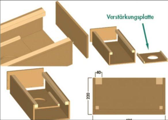 COMPAIR FLOW 150 RECHTE PLATTE BUIS luchtafvoer - KAST & KEUKEN