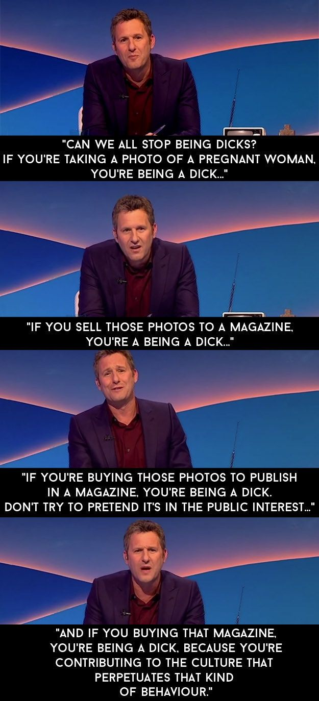 """And when a magazine published photos of her in a bikini on holiday that were taken without her knowledge.   13 Adam Hills Rants By On """"The Last Leg"""" That Nailed It"""