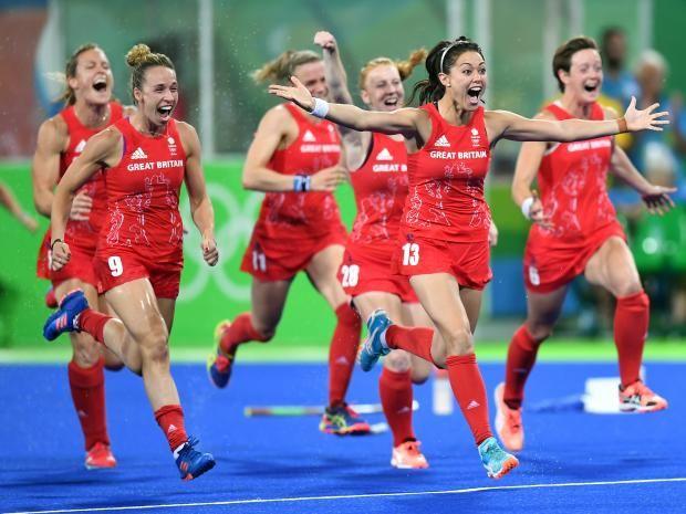 Team GB win hockey Gold at Rio 2016 Olympics.
