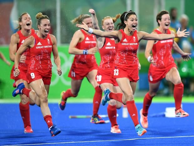 Team GB win hockey Gold at Rio 2016 Olympics.