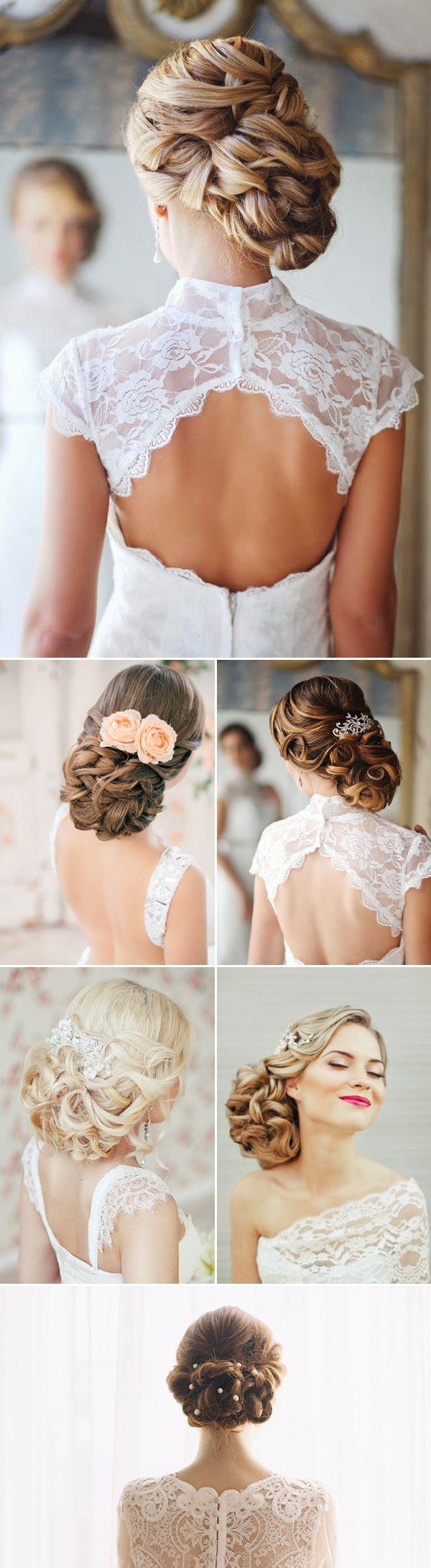 Bridal hair as romantic as your love.