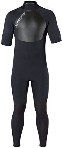 Hyperflex Wetsuits Men's Voodoo 2.5mm Short Sleeve Fullsuit, Black, X-Large Short * Check out the image by visiting the link.