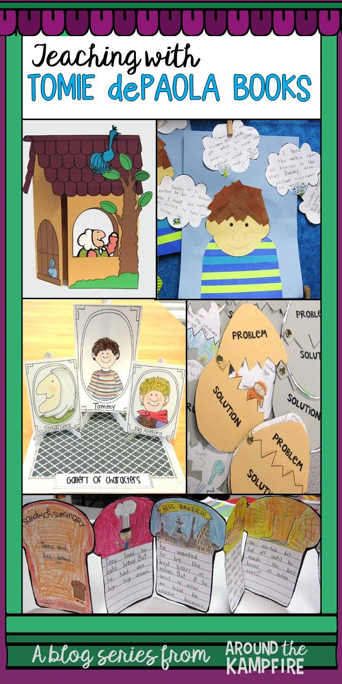 Tomie dePaola books are a teacher's dream for teaching so many ELA concepts. Don't miss this blog series on teaching with Tomie dePaola books with lots of writing opportunities, lesson plans, and interactive charts for teaching reading comprehension and text structure with Tomie books for 1st, 2nd, and 3rd grade. Start here to read the series.