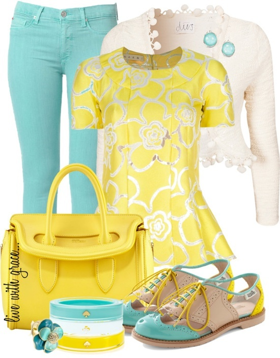 """polyvore yellow 