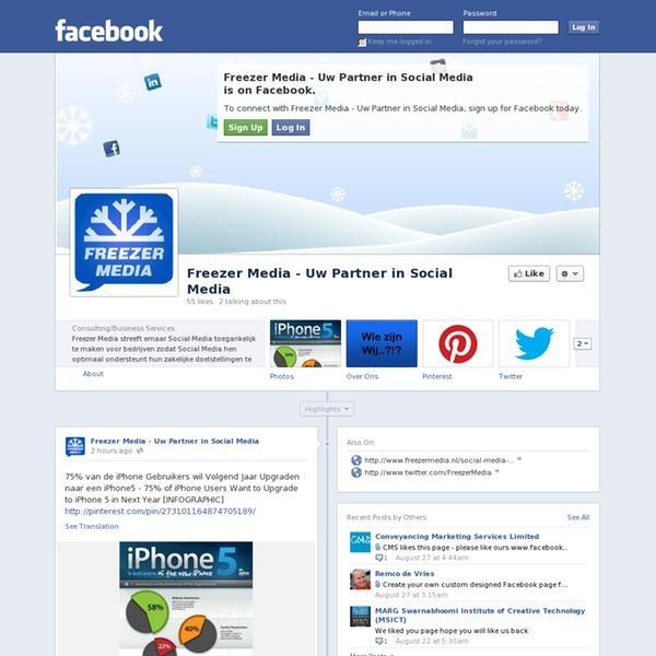 Freezer Media heeft ook een eigen Facebook Pagina - We also have our own Facebook Page.