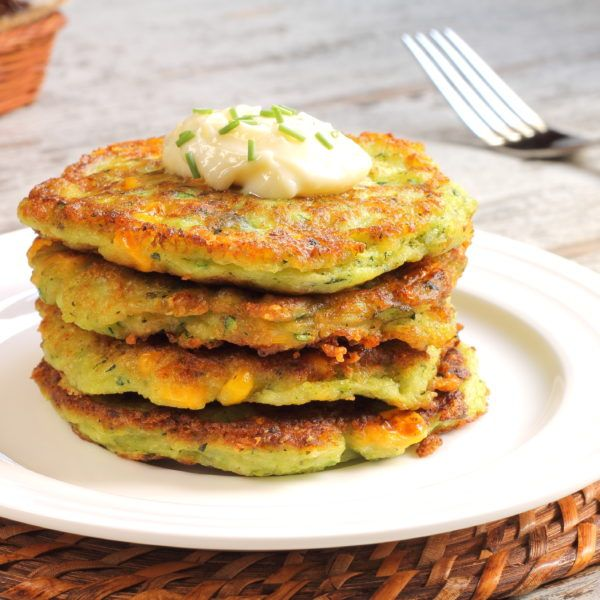 A healthy, protein packed vegetarian side dish, these zucchini cakes are so easy to make and warm!
