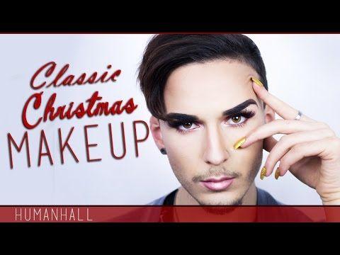 CLASSIC CHRISTMAS MAKEUP - HumanHall - YouTube