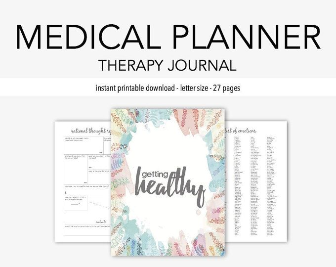 Medical Journal: Medication, Home Management, Doctor, Dental, Vision, Mental Health, Eating Disorder, Organization, Therapy Journal
