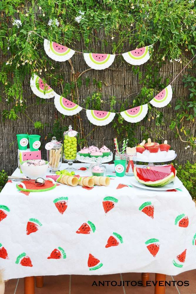Watermelon summer party! See more party ideas at CatchMyParty.com!