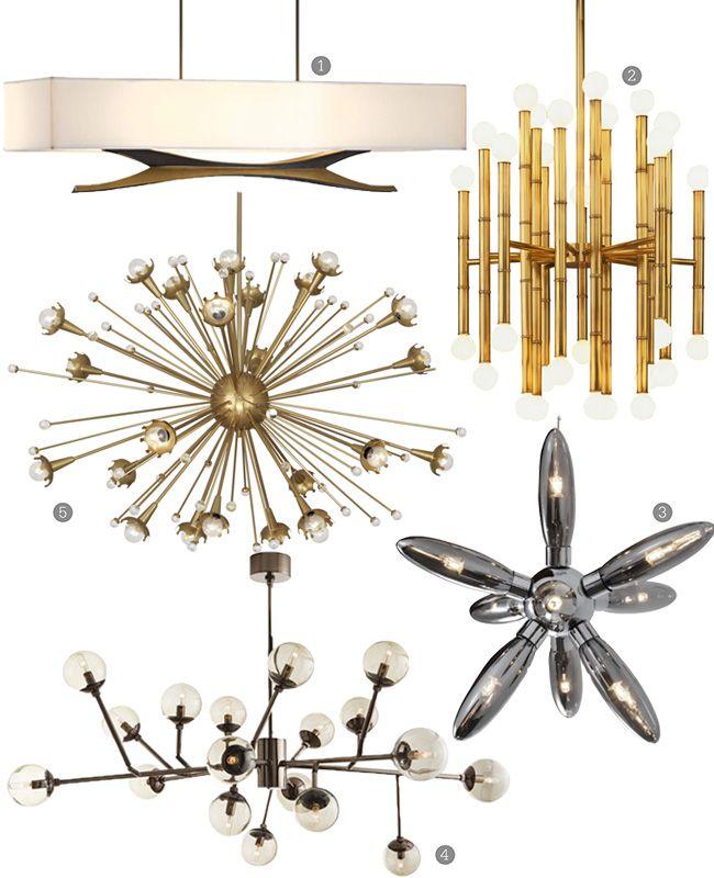mid-century chandeliers