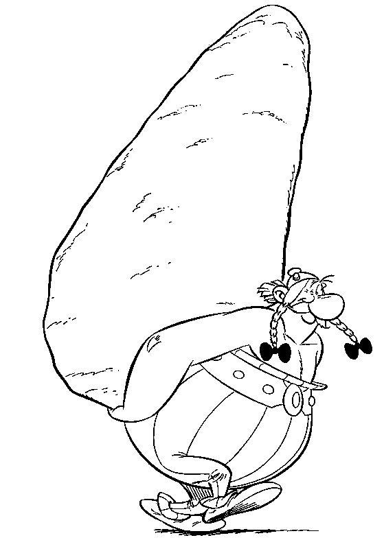 13 best asterix coloring page images on pinterest - Dessin obelix ...