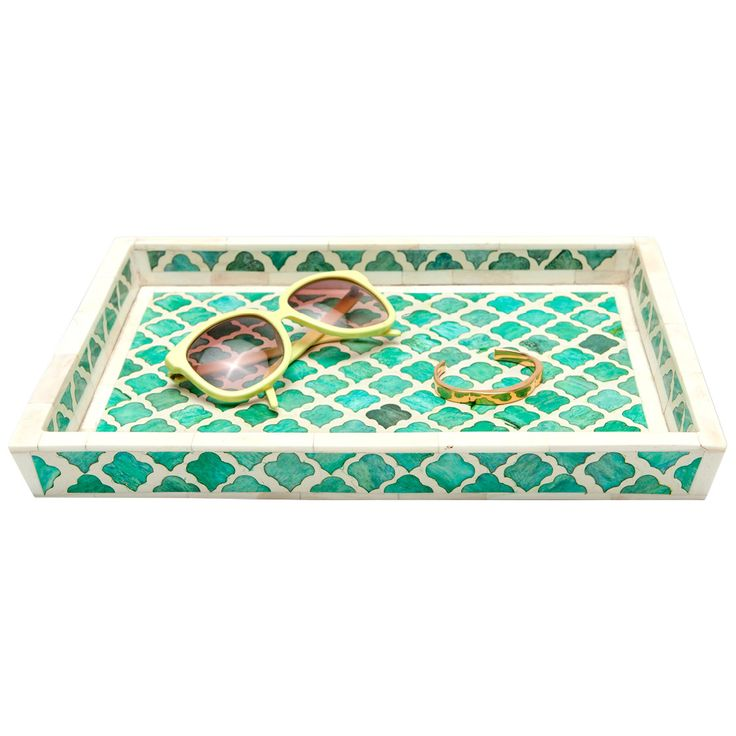 Pigeon & Poodle Prescott Green Large Tray