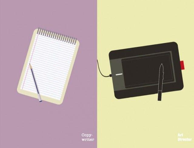 Copywriters versus Art Directors #art #design #copywriter