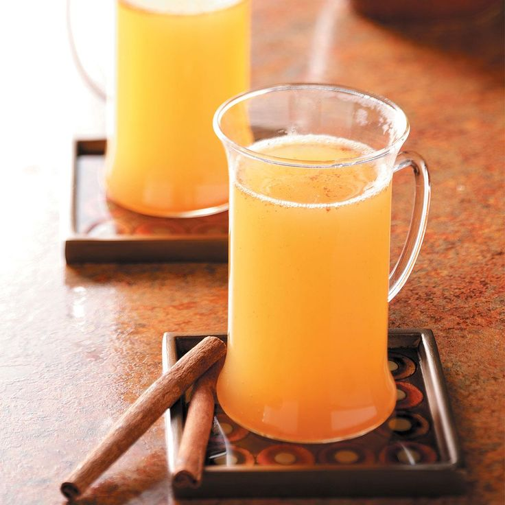 Easy Hot Spiced Cider Recipe -This warm cider chases the chill on cool evenings…and it's perfect for winter holidays, too. —Trinda Heinrich, Lakemoor, Illinois
