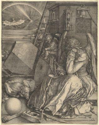 """Artwork: Albrecht Dürer, """"Melencolia I,"""" 1514, engraving #elements #shape #k12 #teachers #art"""