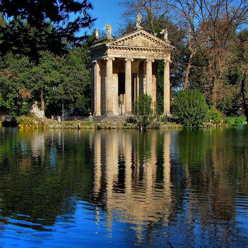 Bourghese Gardens: Temples Of Asclepius, Villas Borghes, Borghes Gardens, Rome Italy, Parks, Borgh Gardens, Lakes, Places, Roma Capoccia
