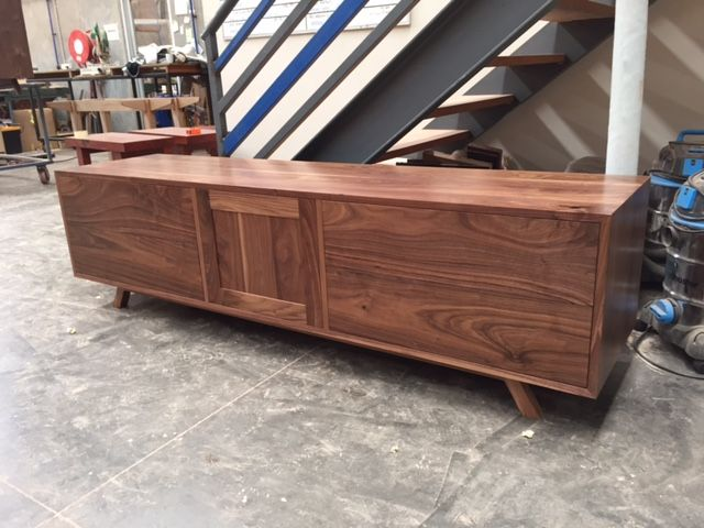 American Walnut timber audiovisual unit.  www.christiancolefurniture.com.au  #timber #wooden #audiovisual #cabinet
