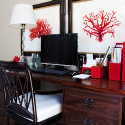 Home Office Red Design