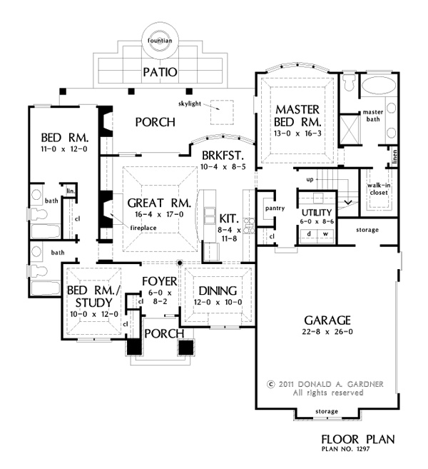 244 best images about house plan favourites 1 on pinterest european house plans southern - House plans one story with basement collection ...
