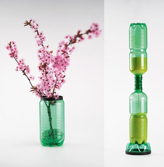 Best 25 empty plastic bottles ideas on pinterest for Plastic bottle vase craft