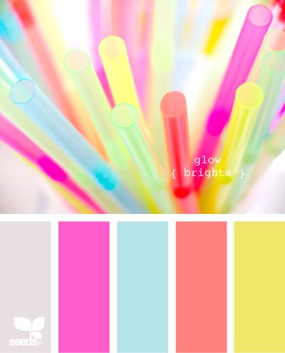color palette of straws
