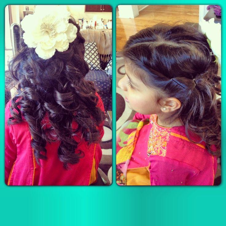Kids Hairstyles For Wedding: Kids Wedding Hairstyles .. Playful Curls .. #flowergirl