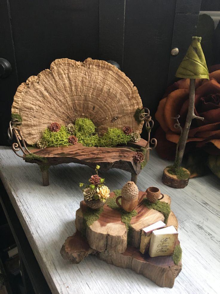 52 wunderschöne und magische Miniatur-Märchengarten-Ideen #Garten #Ideen #Zauberkunst #Mini …