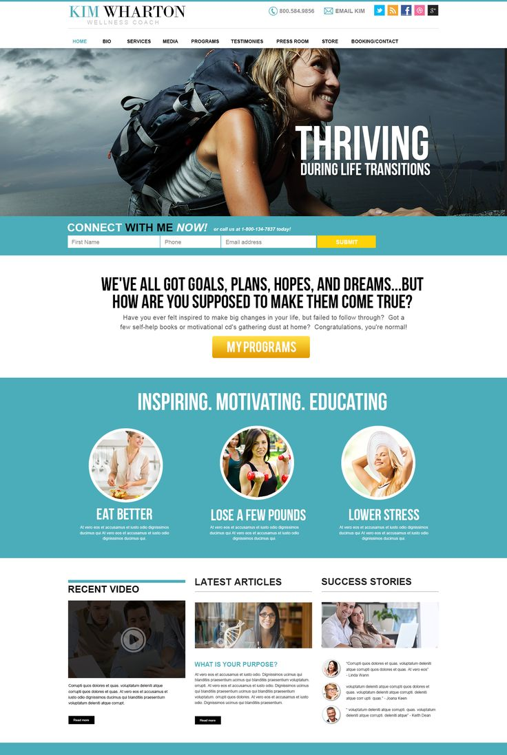 Wellness Coach Website Design Concept. Make An Impact. Have The Tools & Strategies You Need To Succeed With Your Website. Contact Website Mentor Today 813-441-9815.