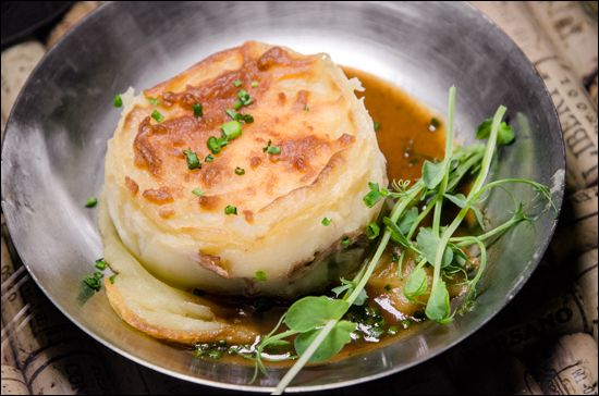 Tastes of Britain are popular in Montreal these days. This meat pie, stuffed with duck confit, was served at Vertige restaurant during the r...