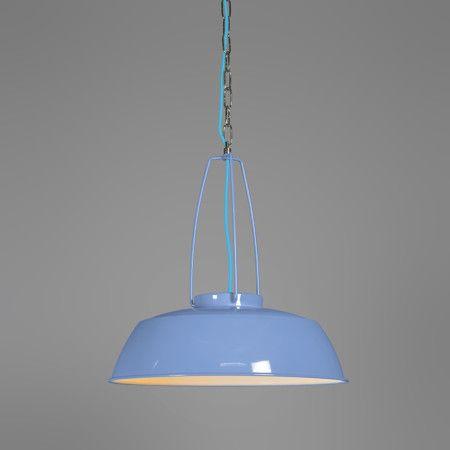 pendelleuchte usine blau industrieleuchte h ngelampe. Black Bedroom Furniture Sets. Home Design Ideas