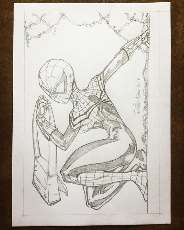 Spider-girl (May Watson Parker) pencil finished!  #art #sketch #sketchpencil #artwork #artworks #pencil #pencils #pencilart #spiderman #spider #spidergirl #mayparker #marvel #marvelcomics
