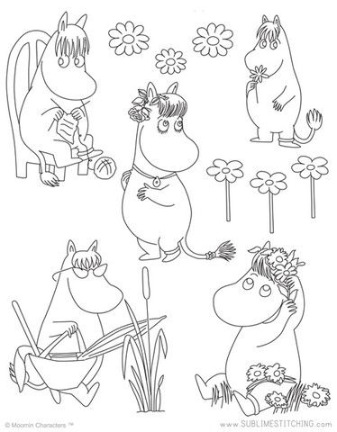 MOOMIN / Snork Maiden - Embroidery Patterns