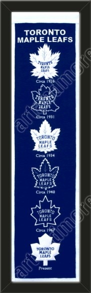 This Toronto Maple Leafs heritage banner framed to 8 x 32 inches. $89.99         @ ArtandMore.com