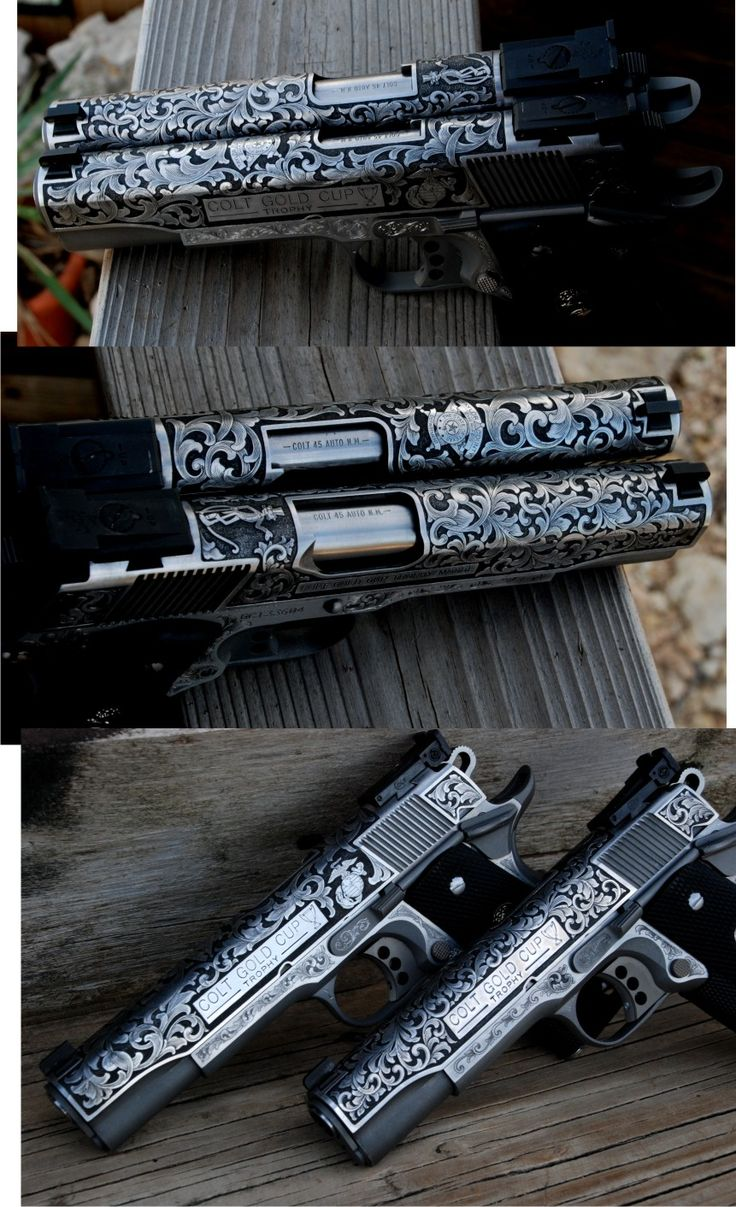 We make holsters for the Colt 1911. These are handsomely engraved by Otto Carter.