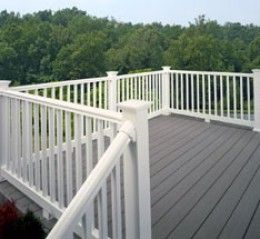 Home Improvement Porch Deck Railings - Great Remodeling Design Ideas - love the white and gray