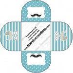 Baixe lindos convites, moldes, rótulos e imagens para fazer uma Chá de Bebê Mustache (Bigode)