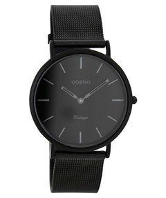 Damen-Uhr-Ultra-Slim-Vintage-C7730-schwarz
