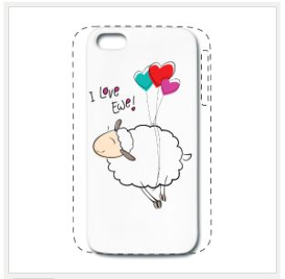 iPhone 5 and 5S premium cover case I Love Ewe design from PlanetHupo $21.90 #iPhone5case #iPhone5cover #iPhone5S #case #cover