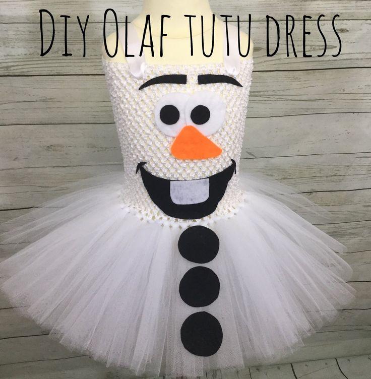 DIY Olaf Costume Tutu Dress - YouTube
