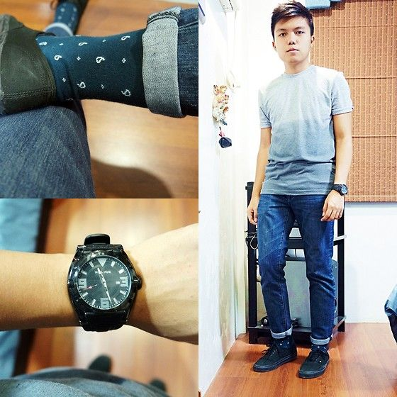 Get this look: http://lb.nu/look/5816799  More looks by David Cruz: http://lb.nu/davidcruz  Items in this look:  Forever 21 Jeans, Topman Top, Police Watch, Topman Socks   #firsttimer #meanswear #filipino