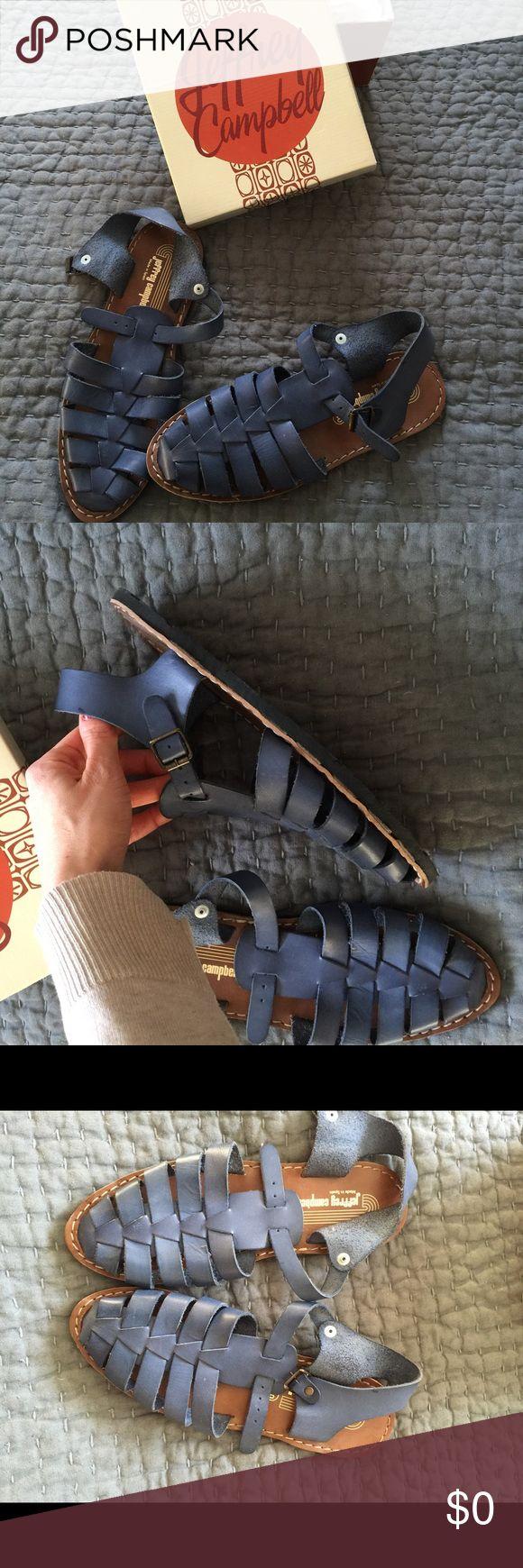 Jeffrey Campbell sandals Blue Jeffery Campbell blue sandals. Worn once. Size 40 Jeffrey Campbell Shoes